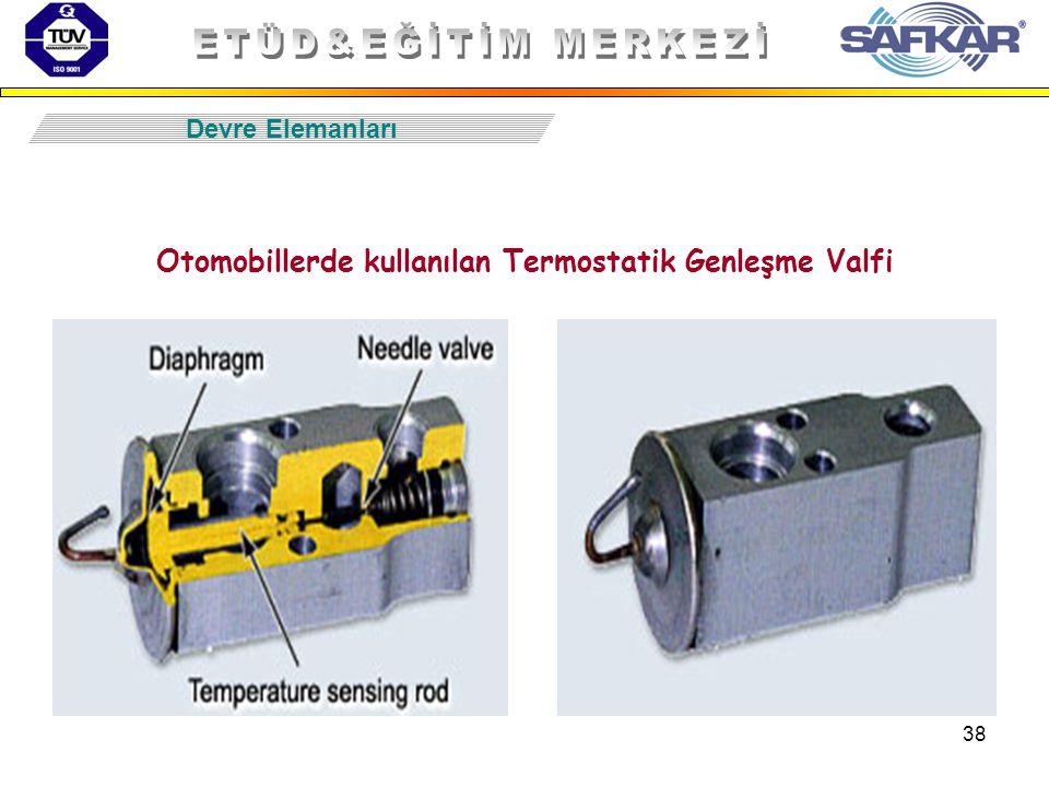 Otomobillerde kullanılan Termostatik Genleşme Valfi