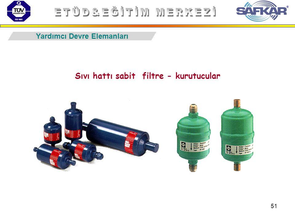 Sıvı hattı sabit filtre - kurutucular