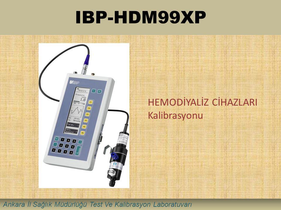 IBP-HDM99XP HEMODİYALİZ CİHAZLARI Kalibrasyonu