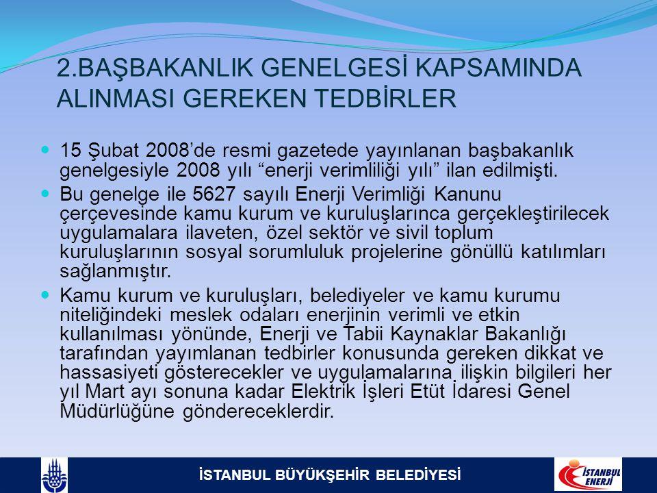 2.BAŞBAKANLIK GENELGESİ KAPSAMINDA ALINMASI GEREKEN TEDBİRLER