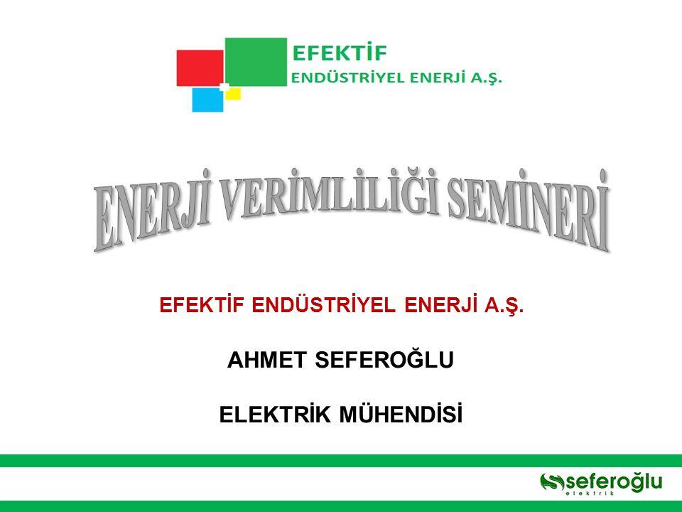 ENERJİ VERİMLİLİĞİ SEMİNERİ EFEKTİF ENDÜSTRİYEL ENERJİ A.Ş.