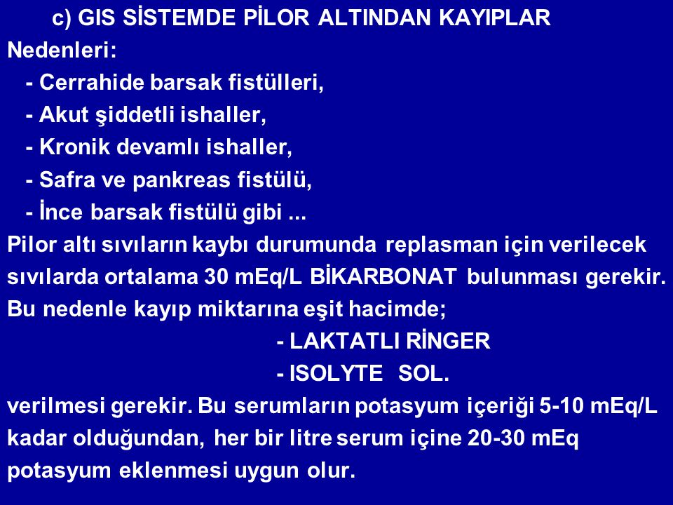 c) GIS SİSTEMDE PİLOR ALTINDAN KAYIPLAR