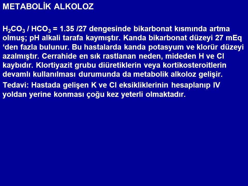 METABOLİK ALKOLOZ