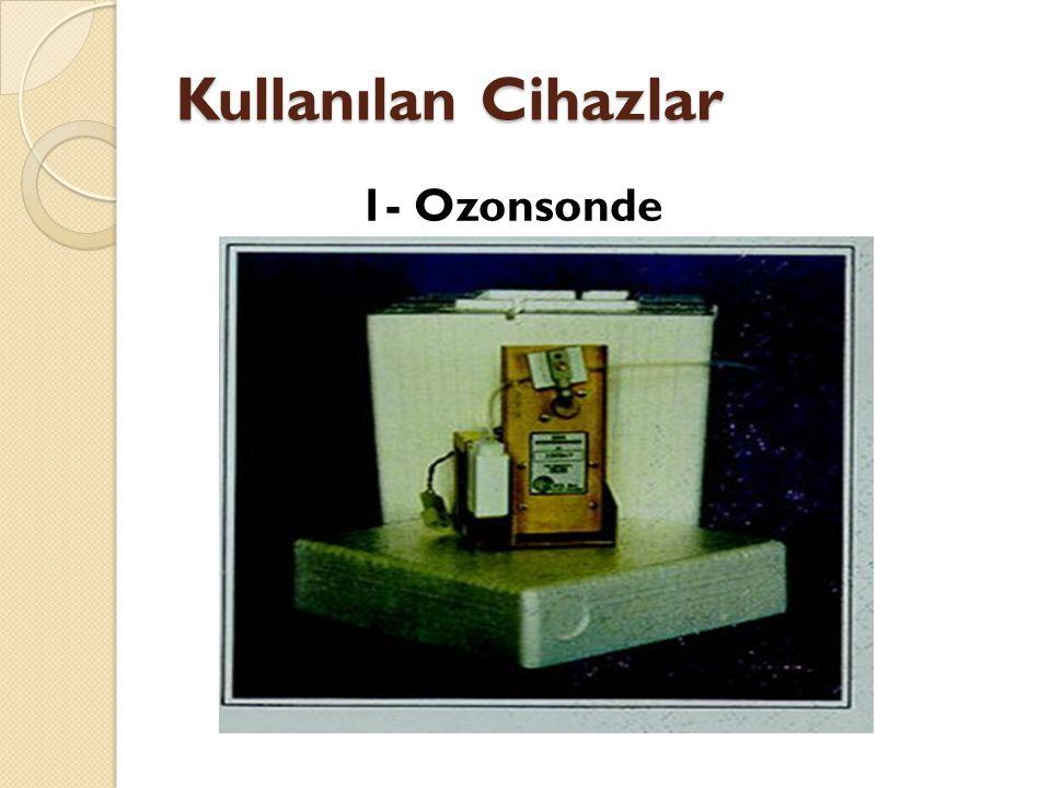 Kullanılan Cihazlar 1- Ozonsonde