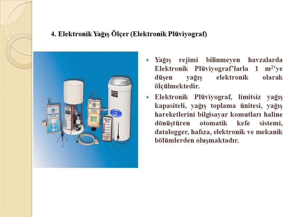 4. Elektronik Yağış Ölçer (Elektronik Plüviyograf)