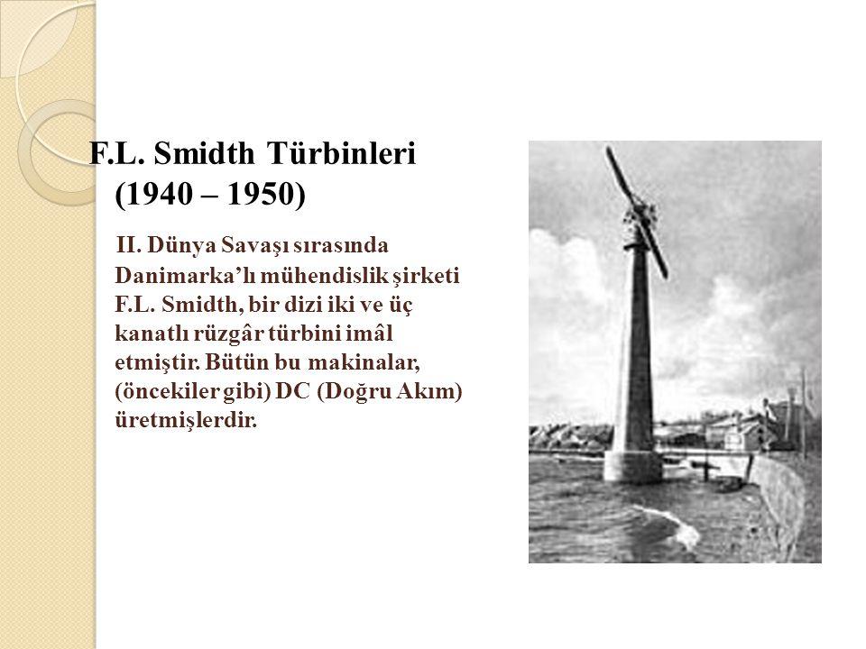 F.L. Smidth Türbinleri (1940 – 1950)