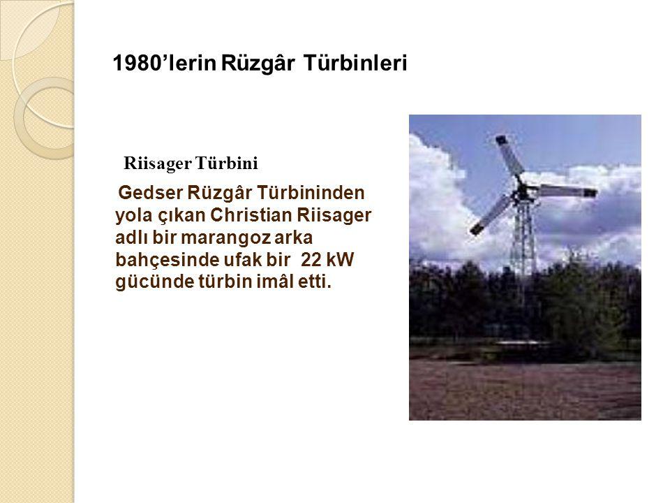 1980'lerin Rüzgâr Türbinleri
