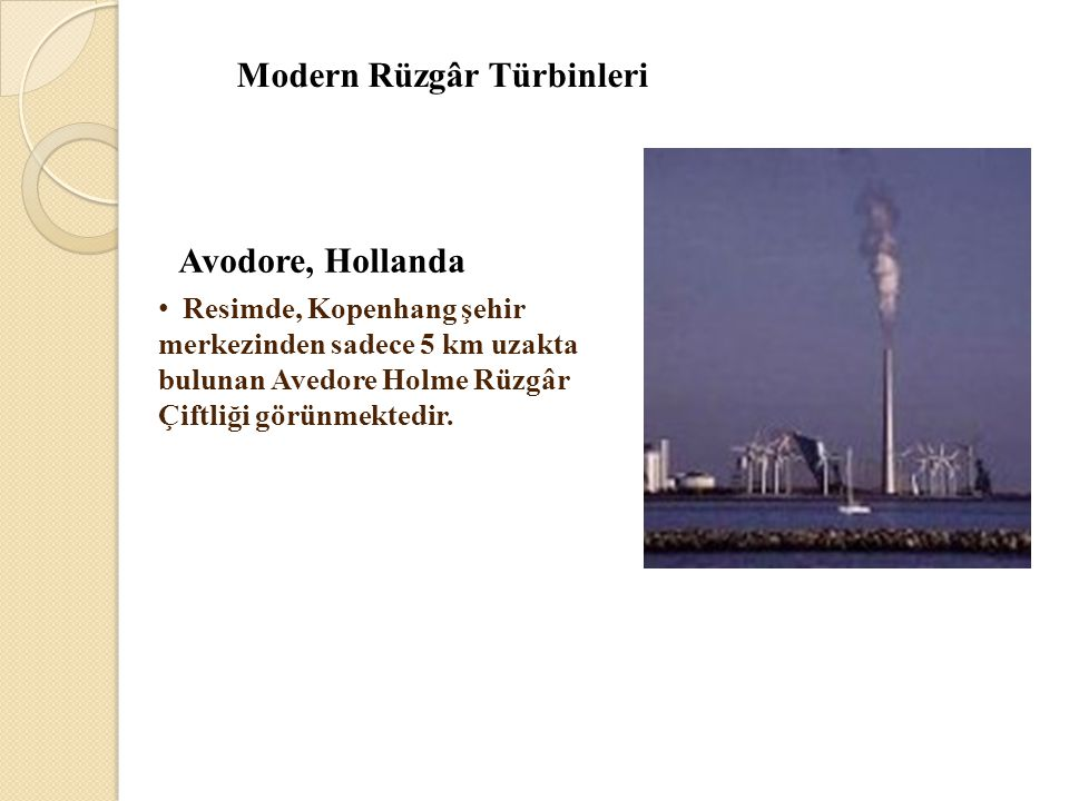 Modern Rüzgâr Türbinleri