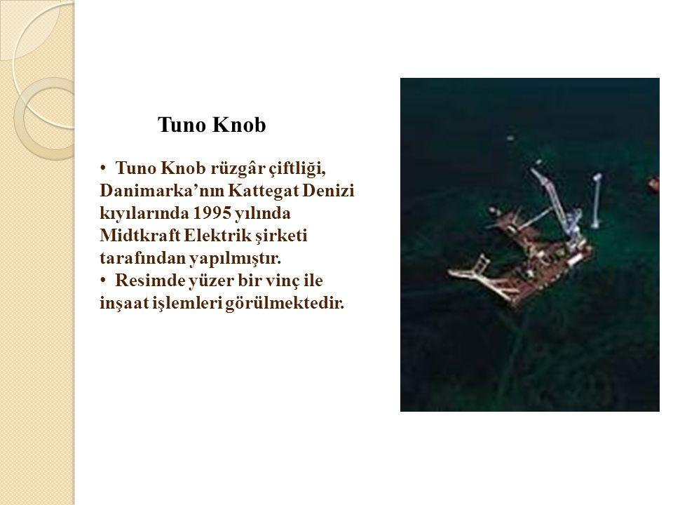 Tuno Knob Tuno Knob rüzgâr çiftliği, Danimarka'nın Kattegat Denizi kıyılarında 1995 yılında Midtkraft Elektrik şirketi tarafından yapılmıştır.