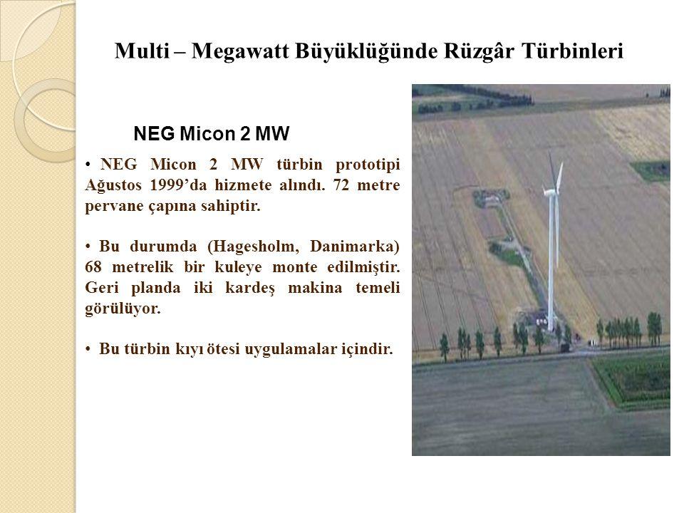 Multi – Megawatt Büyüklüğünde Rüzgâr Türbinleri
