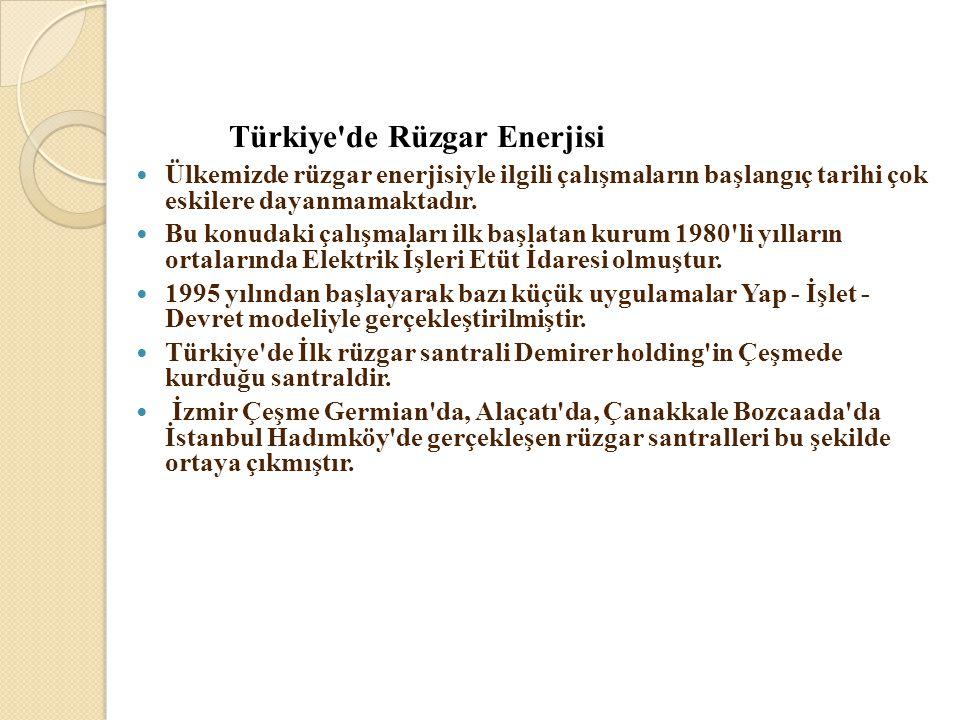 Türkiye de Rüzgar Enerjisi