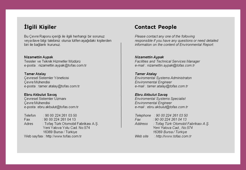 İlgili Kişiler Contact People