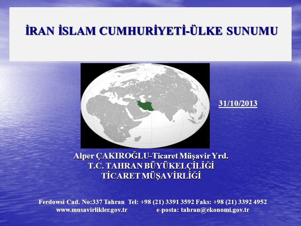 İRAN İSLAM CUMHURİYETİ-ÜLKE SUNUMU