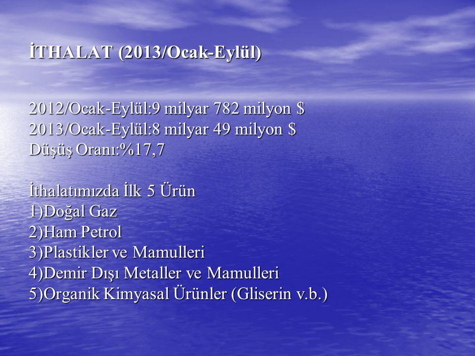 İTHALAT (2013/Ocak-Eylül)