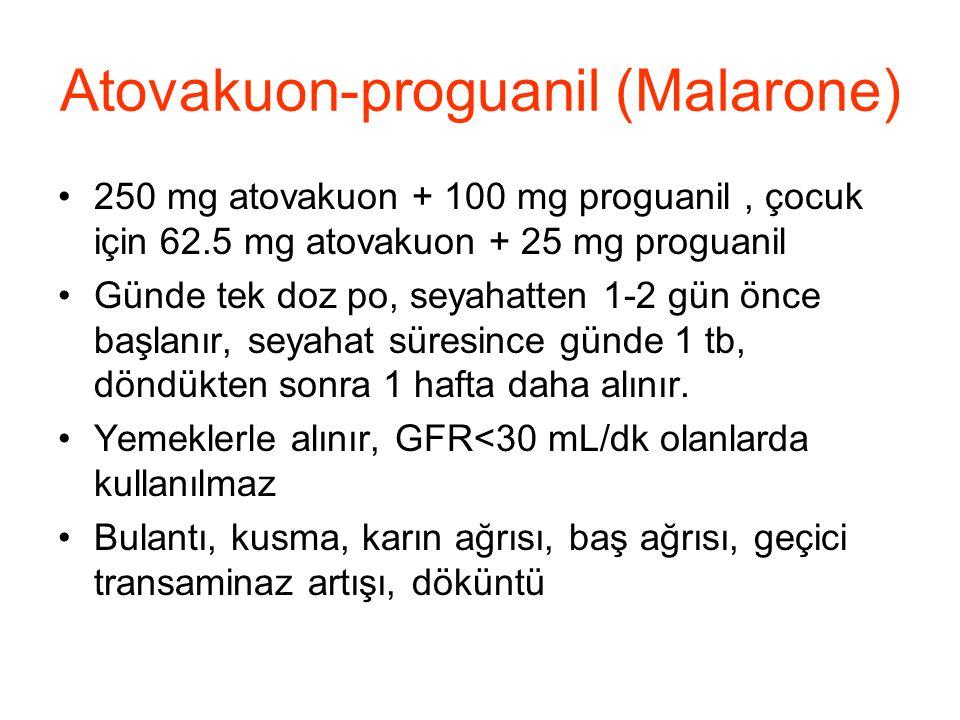 Atovakuon-proguanil (Malarone)