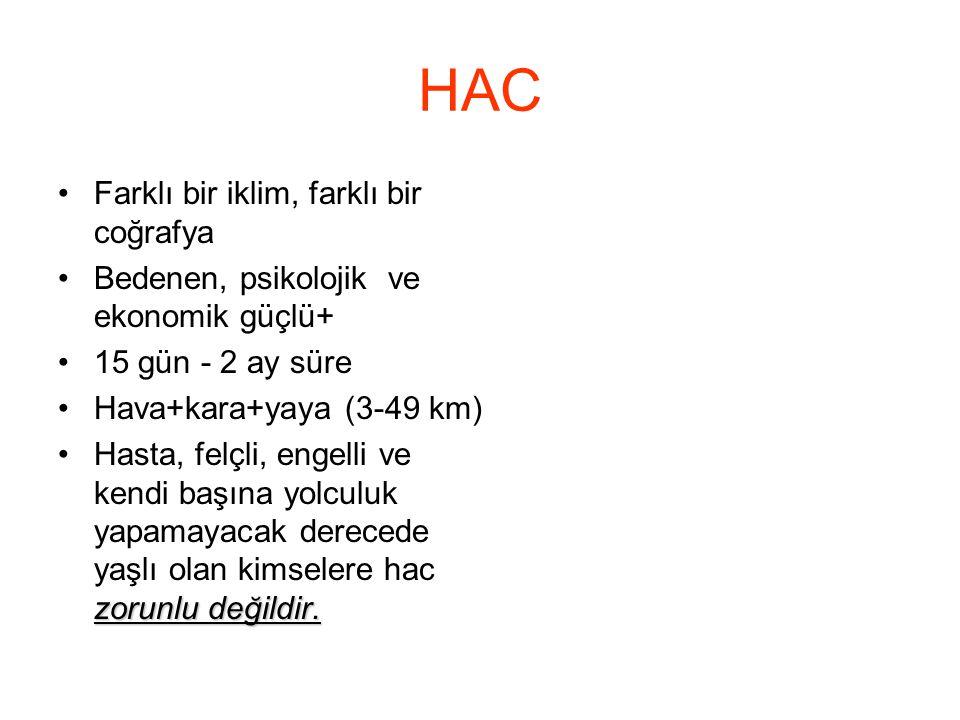HAC Farklı bir iklim, farklı bir coğrafya