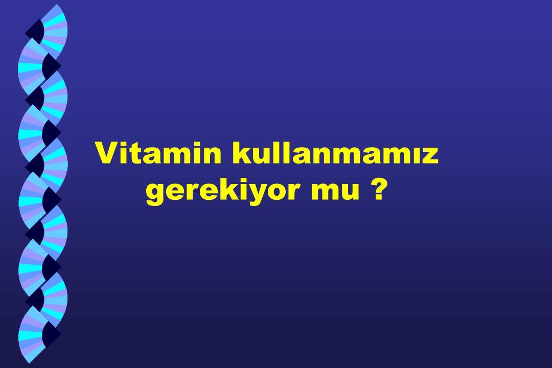 Vitamin kullanmamız gerekiyor mu