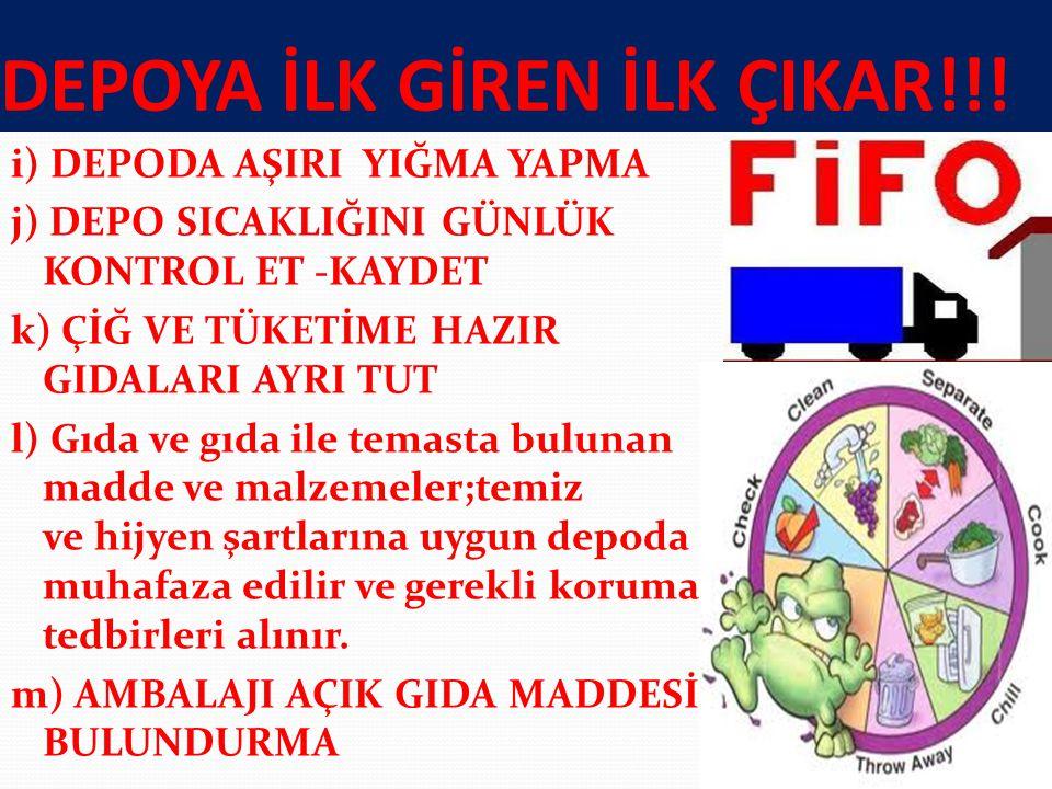 DEPOYA İLK GİREN İLK ÇIKAR!!!