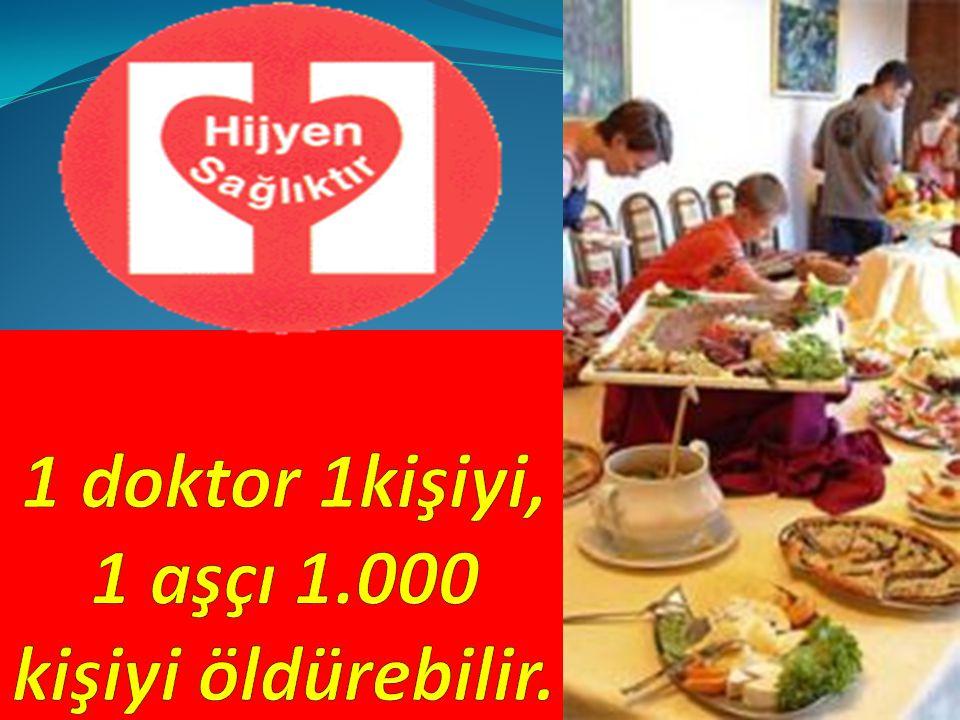 1 doktor 1kişiyi, 1 aşçı 1.000 kişiyi öldürebilir.