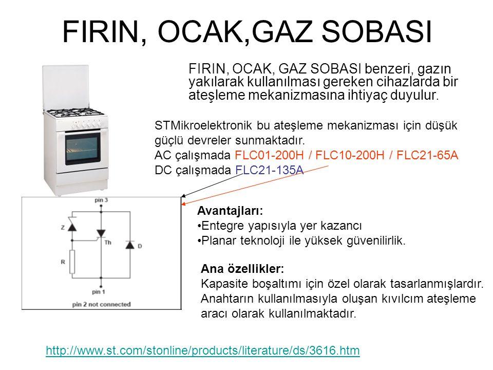FIRIN, OCAK,GAZ SOBASI FIRIN, OCAK, GAZ SOBASI benzeri, gazın yakılarak kullanılması gereken cihazlarda bir ateşleme mekanizmasına ihtiyaç duyulur.