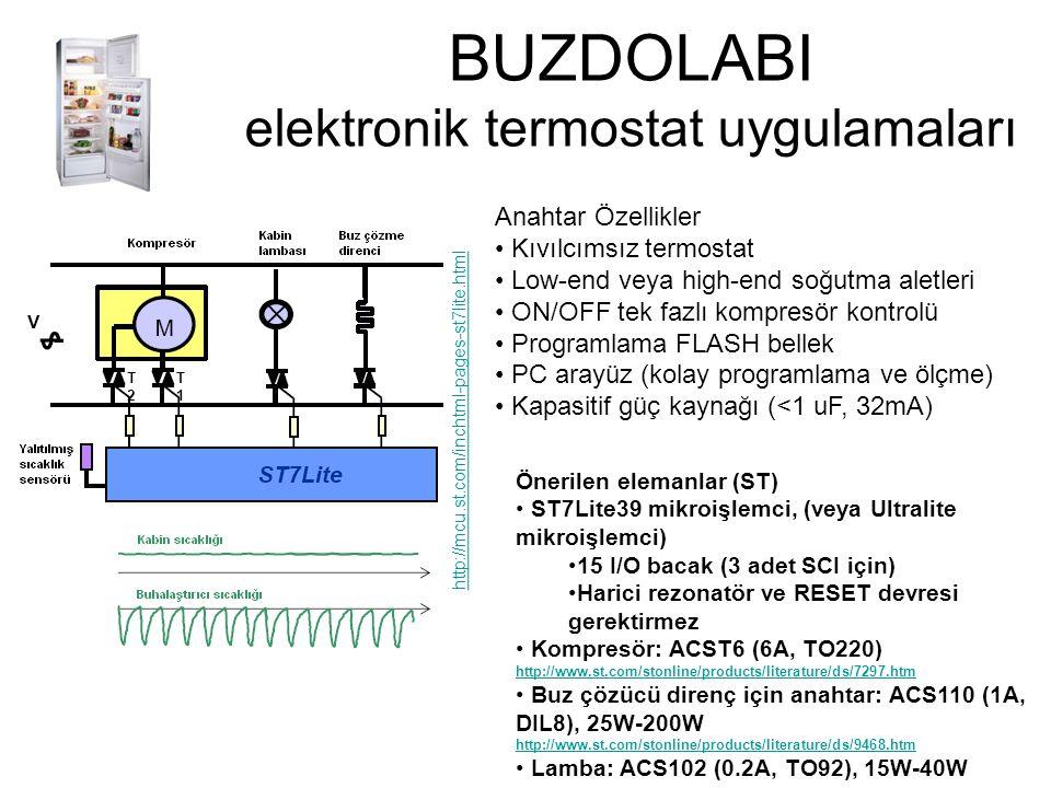 BUZDOLABI elektronik termostat uygulamaları