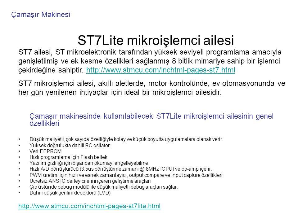 ST7Lite mikroişlemci ailesi