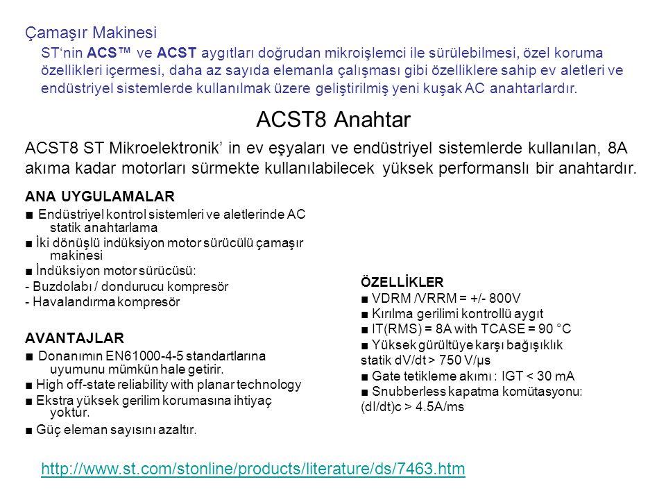 ACST8 Anahtar Çamaşır Makinesi