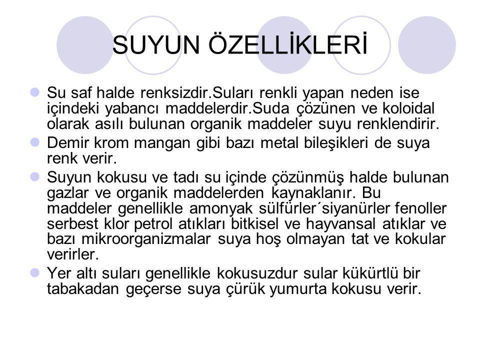 SUYUN ÖZELLİKLERİ