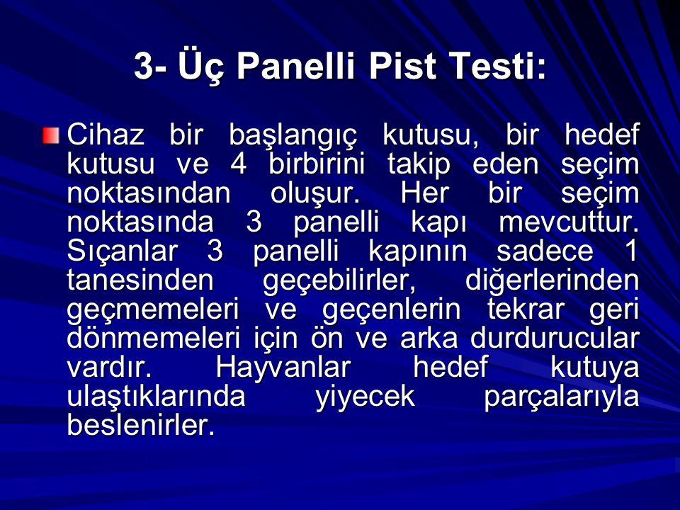 3- Üç Panelli Pist Testi:
