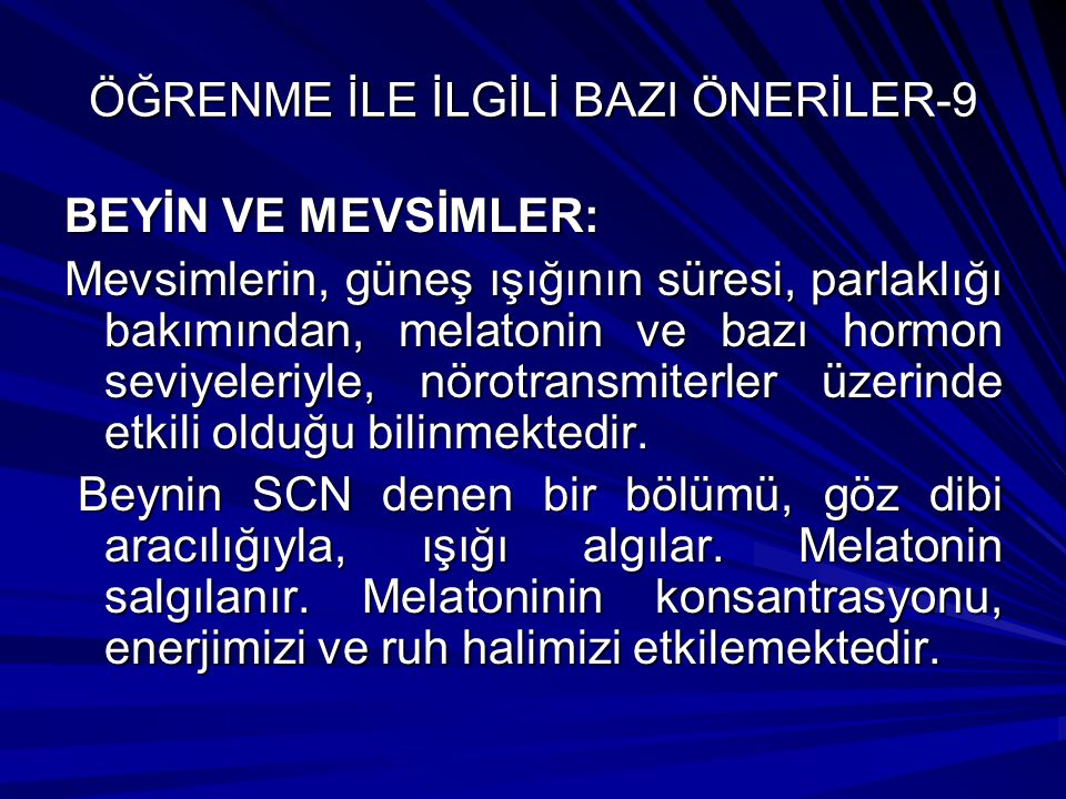 ÖĞRENME İLE İLGİLİ BAZI ÖNERİLER-9