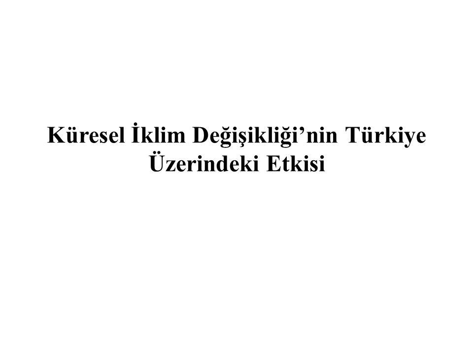 Küresel İklim Değişikliği'nin Türkiye Üzerindeki Etkisi
