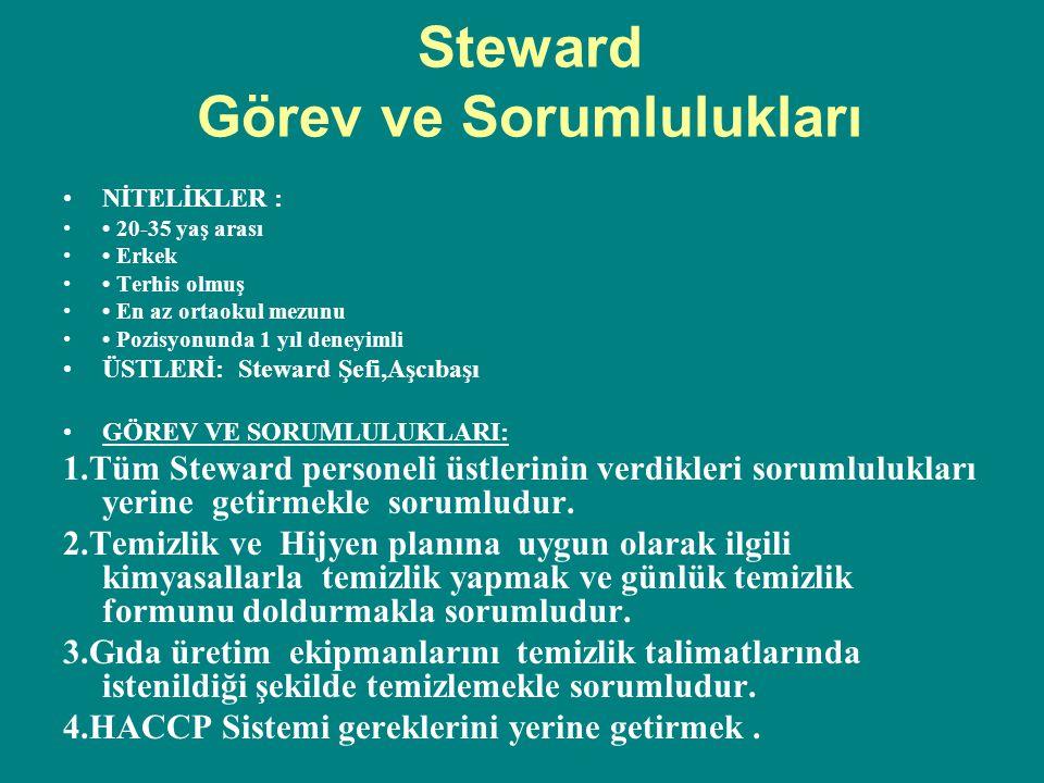 Steward Görev ve Sorumlulukları