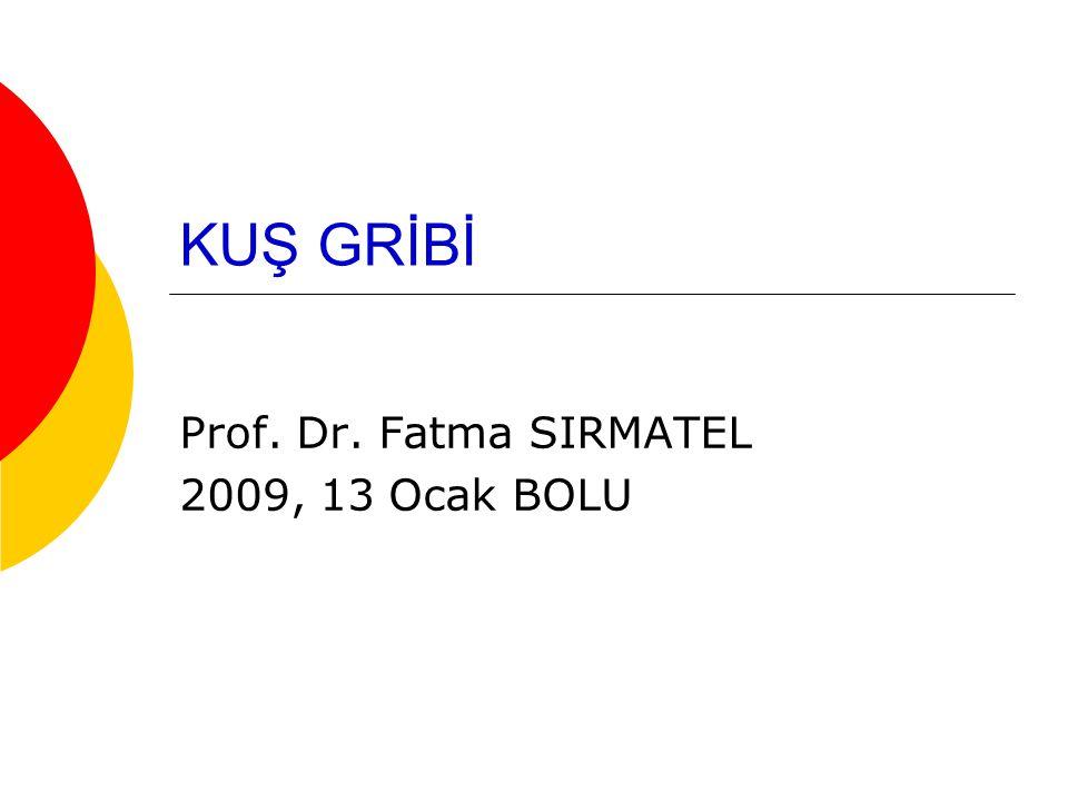 Prof. Dr. Fatma SIRMATEL 2009, 13 Ocak BOLU