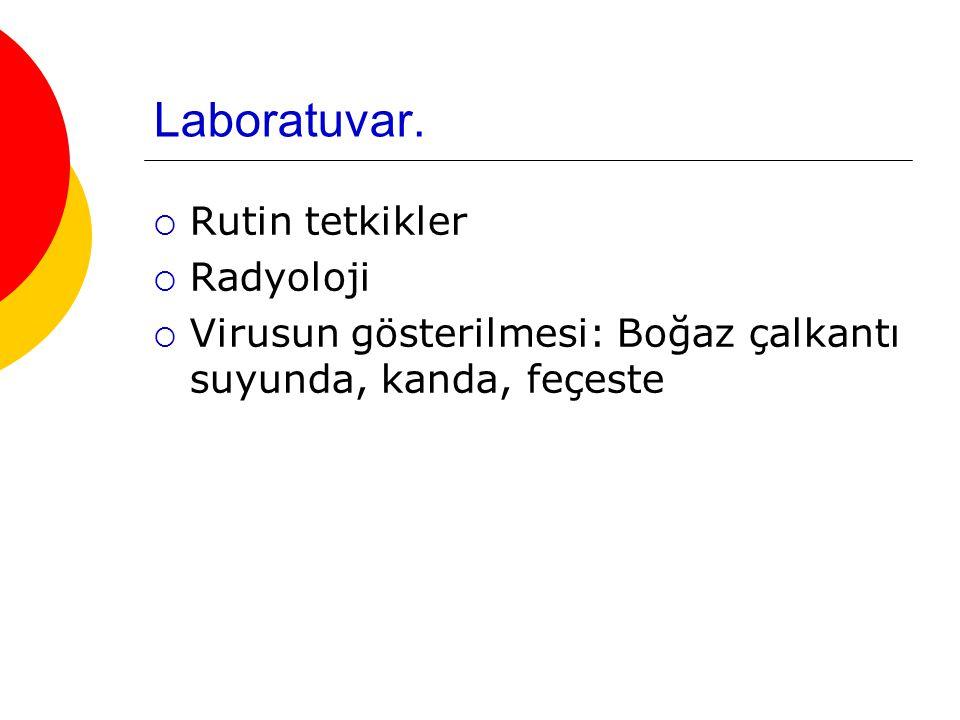 Laboratuvar. Rutin tetkikler Radyoloji