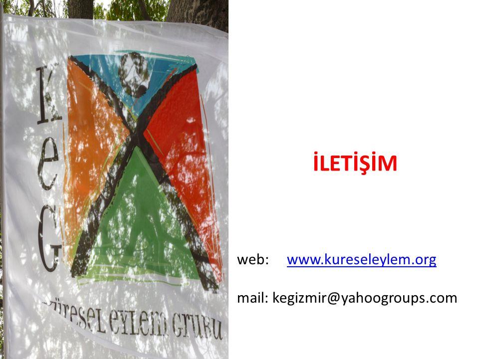 İLETİŞİM web: www.kureseleylem.org mail: kegizmir@yahoogroups.com