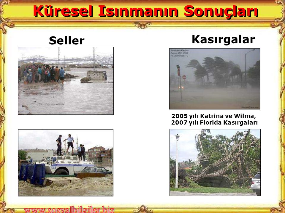 Küresel Isınmanın Sonuçları 2007 yılı Florida Kasırgaları