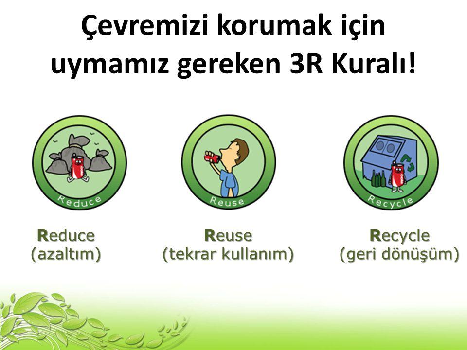 Çevremizi korumak için uymamız gereken 3R Kuralı!