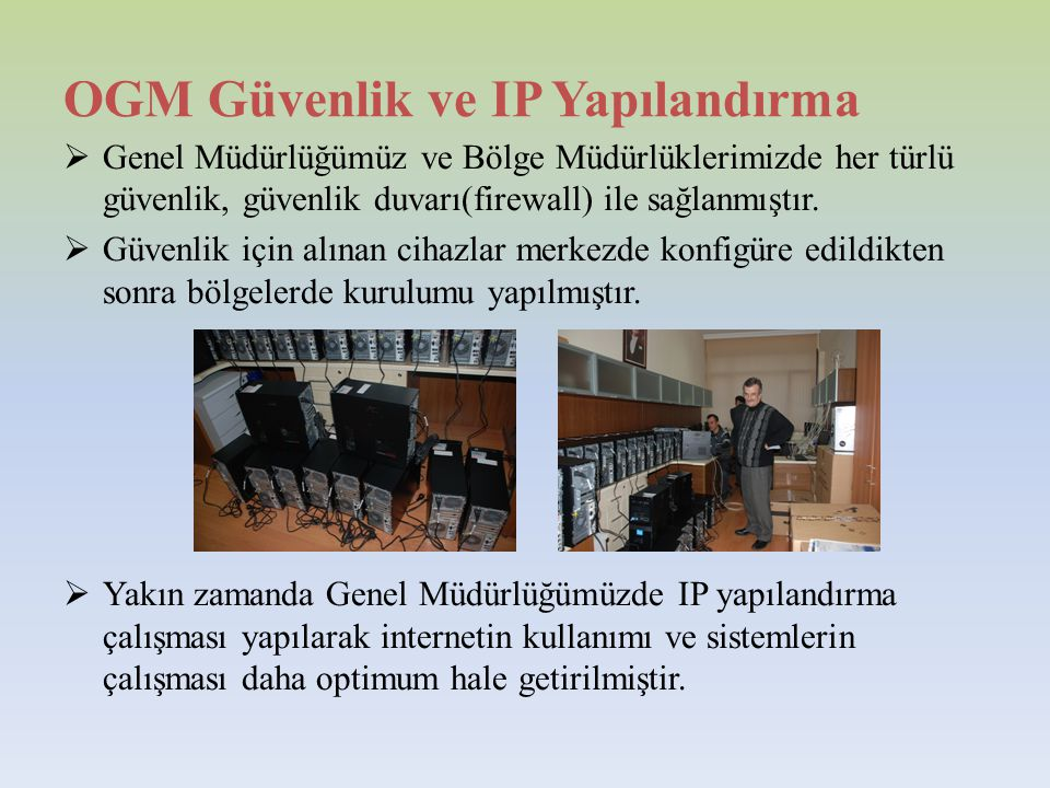OGM Güvenlik ve IP Yapılandırma