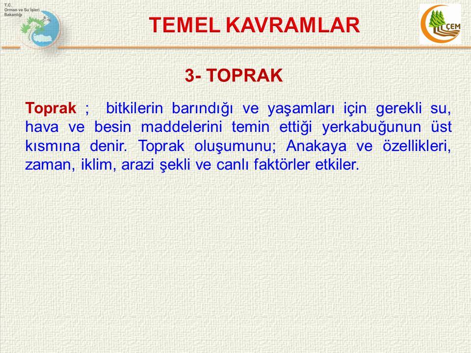 TEMEL KAVRAMLAR 3- TOPRAK