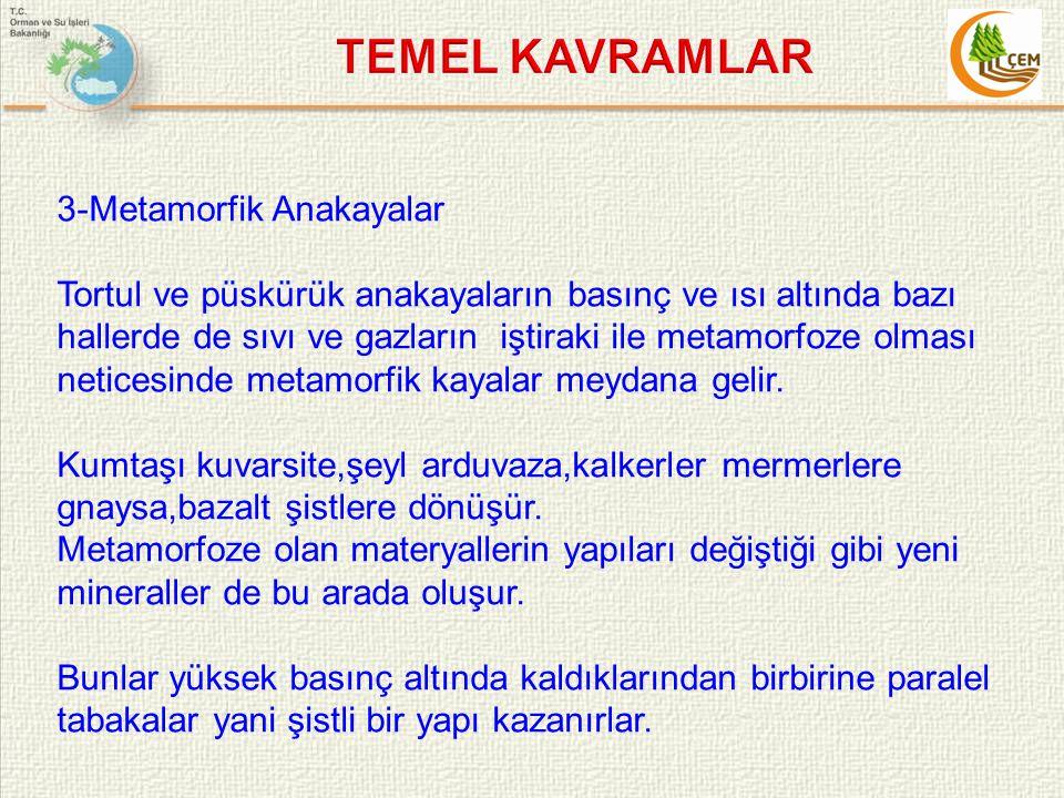 TEMEL KAVRAMLAR 3-Metamorfik Anakayalar