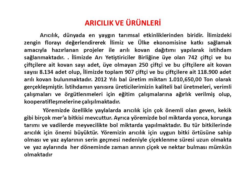 ARICILIK VE ÜRÜNLERİ