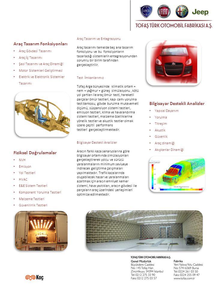 Araç Tasarım Fonksiyonları