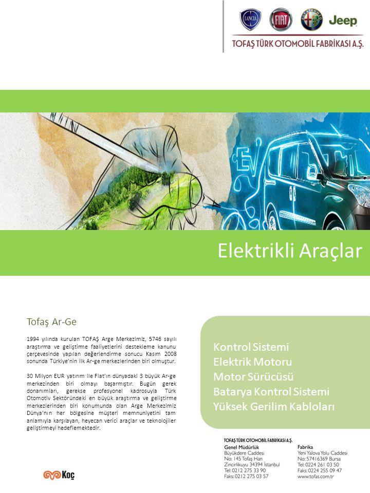 Elektrikli Araçlar Kontrol Sistemi Elektrik Motoru Motor Sürücüsü