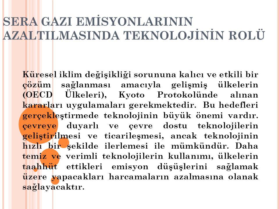 SERA GAZI EMİSYONLARININ AZALTILMASINDA TEKNOLOJİNİN ROLÜ