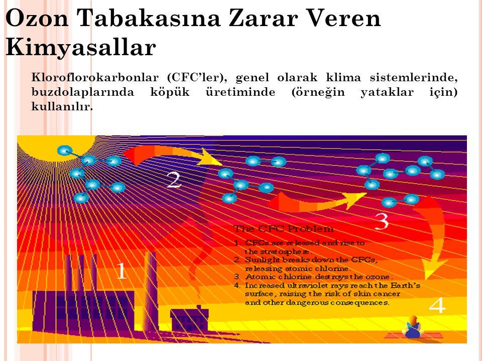 Ozon Tabakasına Zarar Veren Kimyasallar