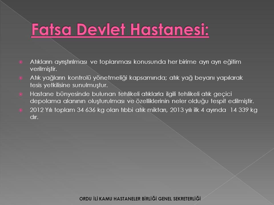 Fatsa Devlet Hastanesi: