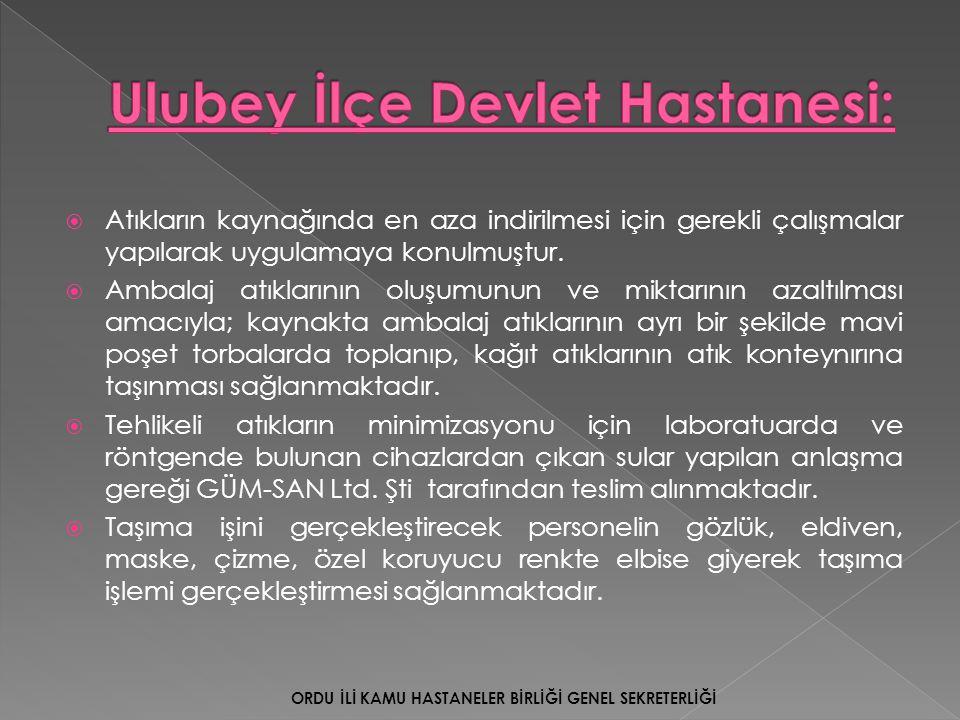 Ulubey İlçe Devlet Hastanesi: