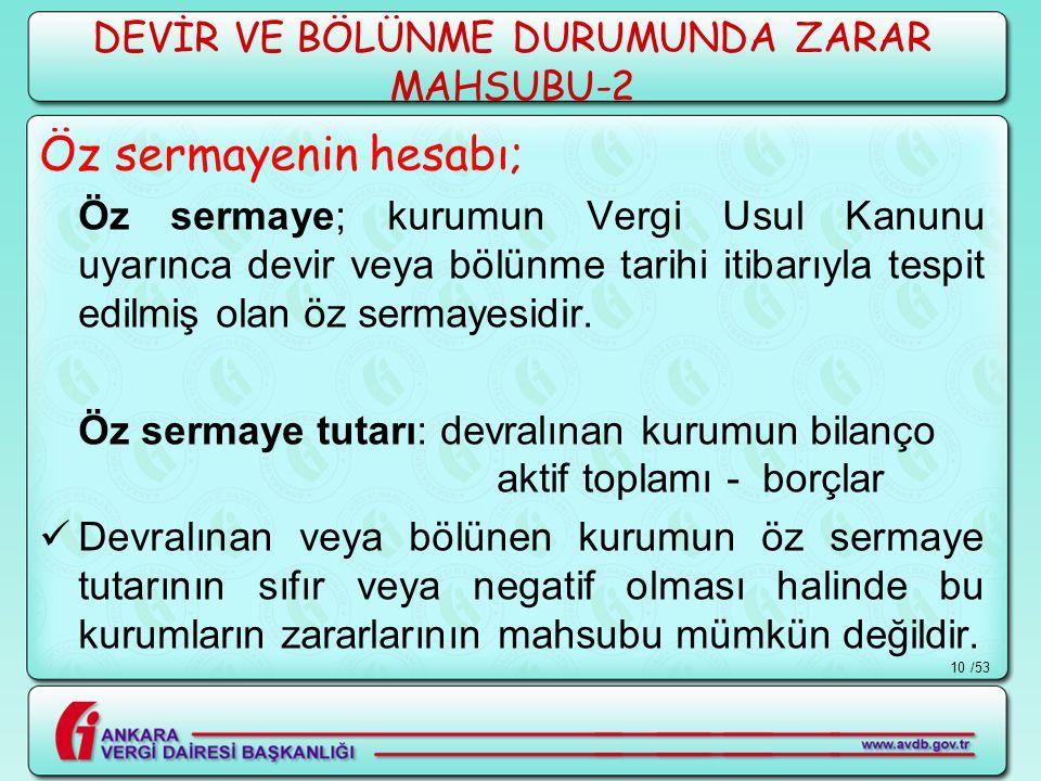 DEVİR VE BÖLÜNME DURUMUNDA ZARAR MAHSUBU-2