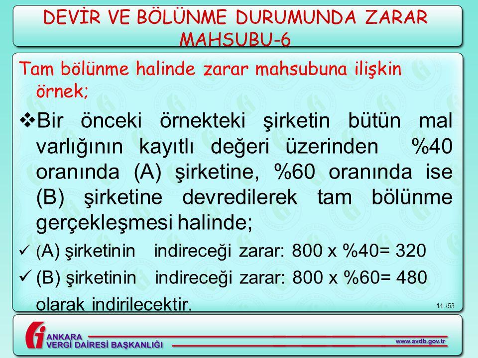 DEVİR VE BÖLÜNME DURUMUNDA ZARAR MAHSUBU-6