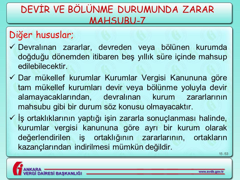 DEVİR VE BÖLÜNME DURUMUNDA ZARAR MAHSUBU-7